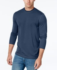 Tasso Elba Men's Big And Tall Performance Uv Protection Long Sleeve T Shirt Nautical Navy