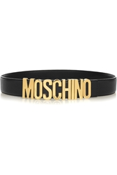 Moschino Olivia Textured Leather Belt