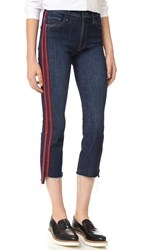 Mother The Insider Crop Step Fray Jeans Speed Racer