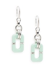 Diane Von Furstenberg Twigs And Links Drop Earrings Mint
