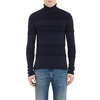 Maison Martin Margiela Men's Reverse Seam Turtleneck Sweater Navy