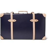 Kingsman Globe Trotter 30 Pinstripe Lined Wheeled Suitcase Navy