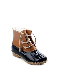 Jack Rogers Chloe Classic Fleece Lined Leather Duck Boots Black
