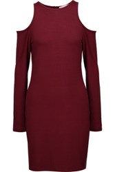 Kain Label Hillary Cutout Stretch Modal Dress Burgundy