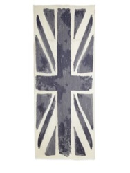 Roda Burnout Uk Flag Scarf Blue White
