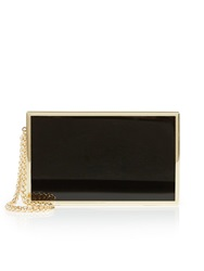 Reiss Joy Box Clutch Black Black