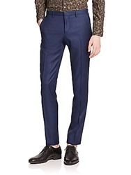 J. Lindeberg Wool Dress Pants Blueberry