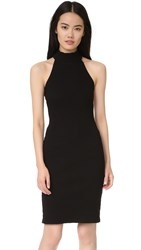 Monrow Turtleneck Halter Dress Black