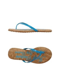 Juicy Couture Thong Sandals Azure