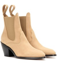 Chloe Suede Ankle Boots Beige