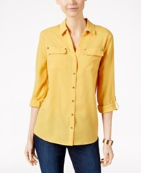 Charter Club Utility Shirt Only At Macy's Honey Glaze
