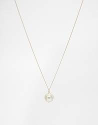 Weekday Dop Faux Pearl Necklace Cream