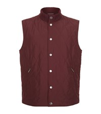 Paul And Shark Ribbed Neck Gilet Male Burgundy
