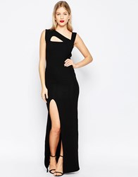 Honor Gold Maxi Dress With Cut Out Detail And Side Split Black