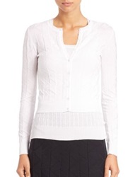 M Missoni Basic Cropped Cardigan White