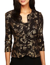 Alex Evenings Plus Jacket And Top Twin Set Black Gold