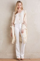 Anthropologie 7 For All Mankind Braided High Rise Flare Jeans White 29 Pants