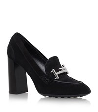 Tod's Gomma Buckle Suede Pumps 95 Female Black