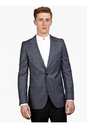 Melindagloss Men's Grey Checked Single Breasted Jacket
