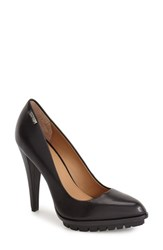 Women's Calvin Klein 'Leilani' Pointy Toe Platform Pump Black Leather