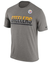 Nike Men's Pittsburgh Steelers Team Practice T Shirt Heather Gray