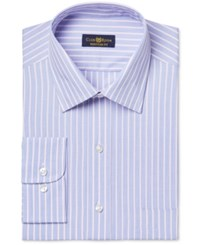 Club Room Estate Wrinkle Resistant Blue And Pink Stripe Dress Shirt Only At Macy's