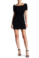 Endless Rose Square Neck Ribbed Bodycon Dress Black