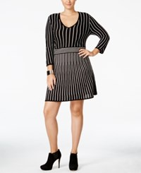 Ny Collection Plus Size Fit And Flare Sweater Dress Pandora