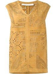 Drome Perforated Tank Nude And Neutrals
