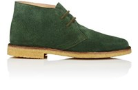 Barneys New York Men's Suede Chukka Boots Green