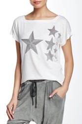 Go Couture Printed Square Neck Short Sleeve Folded Tee Multi