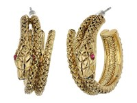 Betsey Johnson Gold Snake Hoop Earrings Gold Earring