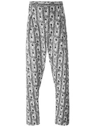 Christophe Lemaire Lemaire Abstract Print Tailored Trousers Black