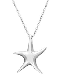 Unwritten Sterling Silver Necklace Mini Starfish Pendant