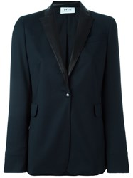 Akris One Button Blazer Blue