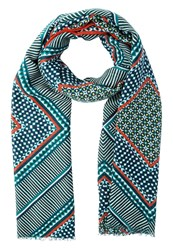 Banana Republic Moroccan Scarf Monomay Turquoise Multicoloured