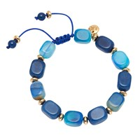 Lola Rose Angel Bracelet Blue Quartz Agate Blue Quartz Agate