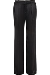 Gucci Silk Satin Wide Leg Pants Black