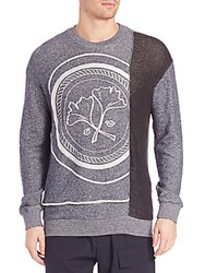 3.1 Phillip Lim Embroidered Long Sleeve Sweatshirt Navy