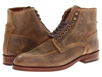 Frye Walter Lace Up Camel Waxed Suede Men's Boots Brown