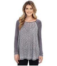 Allen Allen Raglan Tunic Jet Grey Women's Long Sleeve Pullover Gray