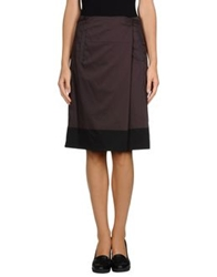 Cividini Knee Length Skirts Deep Purple