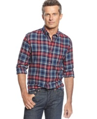 John Ashford Big And Tall Long Sleeve Tartan Flannel Shirt