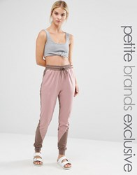 One Day Petite Contrast Panel Jogger Multi