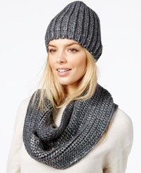 Rampage Rainbow Foil Hat And Loop Scarf Gift Set