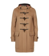 Burberry Wool Duffle Coat With Heart Lining Female Green