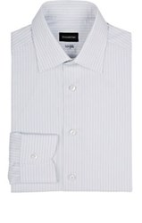 Ermenegildo Zegna Men's Bengal Striped Dress Shirt Light Grey
