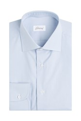 Brioni Cotton Shirt Blue