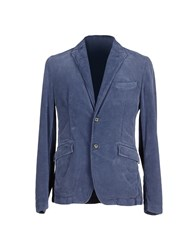 Closed Suits And Jackets Blazers Men Dark Blue