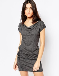 Bench T Shirt Dress With Cowl Neck Black